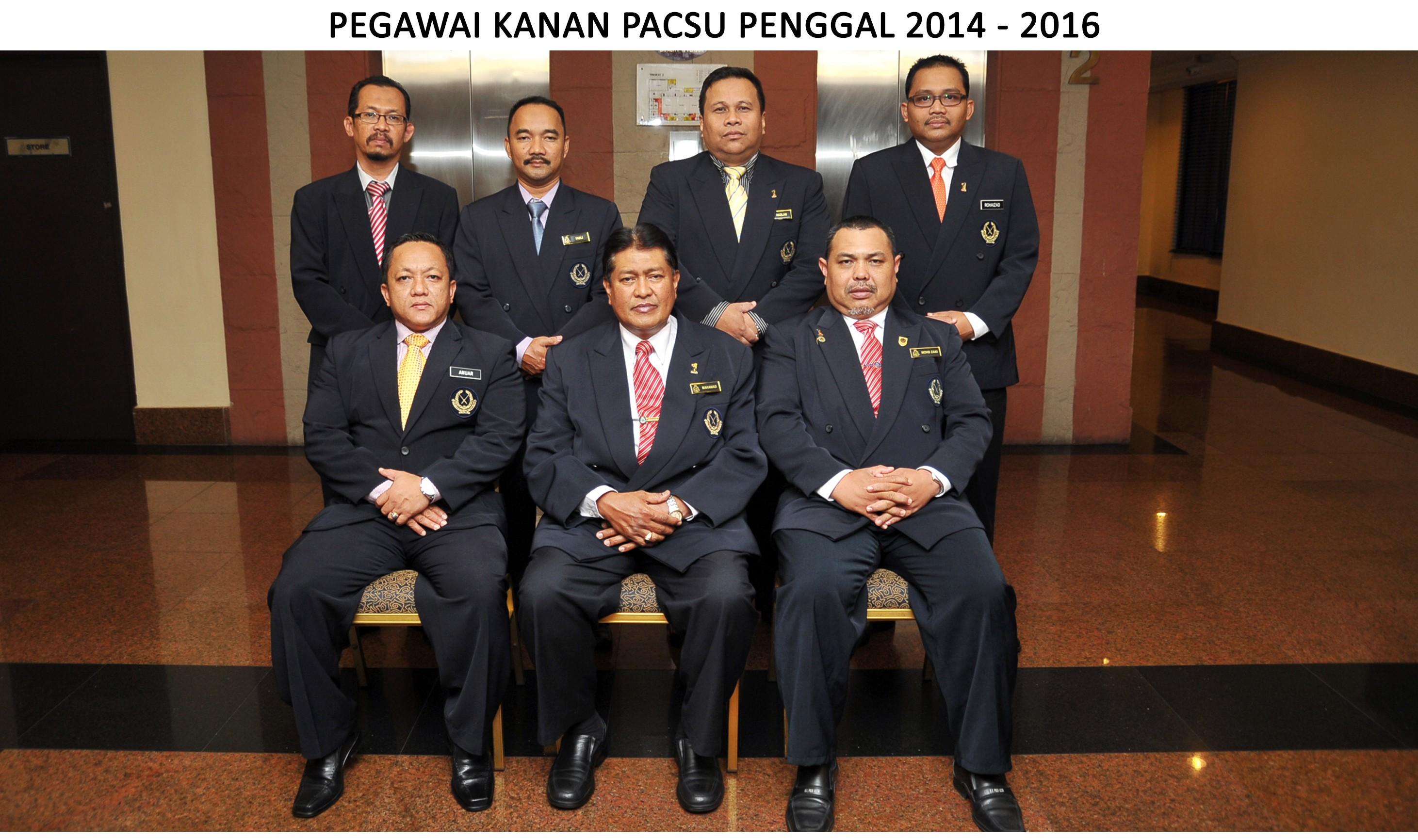 Pegawai Kanan PACSU Penggal (2014-2016)