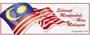 Selamat Menyambut Hari Malaysia Tahun 2016