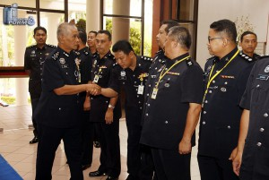 Ketibaan Timbalan Ketua Polis Negara, DIG Tan Sri Dato' Sri Noor Rashid Ibrahim.